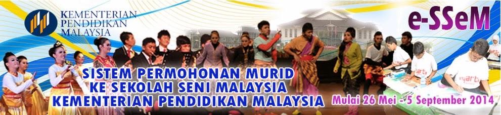 Permohonan Ke Tingkatan 1 Sekolah Seni Malaysia Ambilan 2015