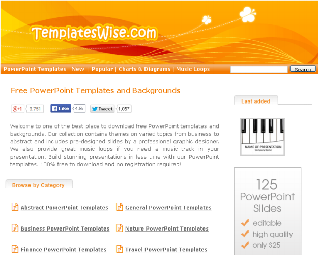 Free Download Template PowerPoint di Templateswise