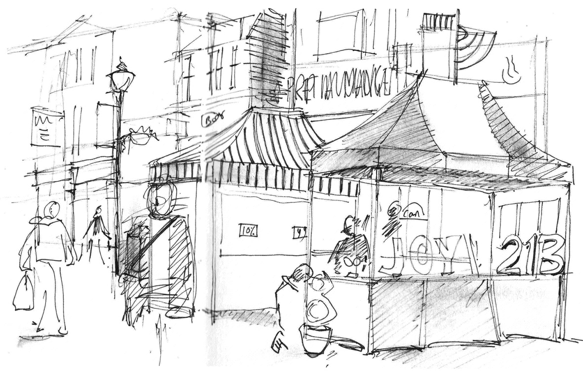 Lineandwash Market Stalls