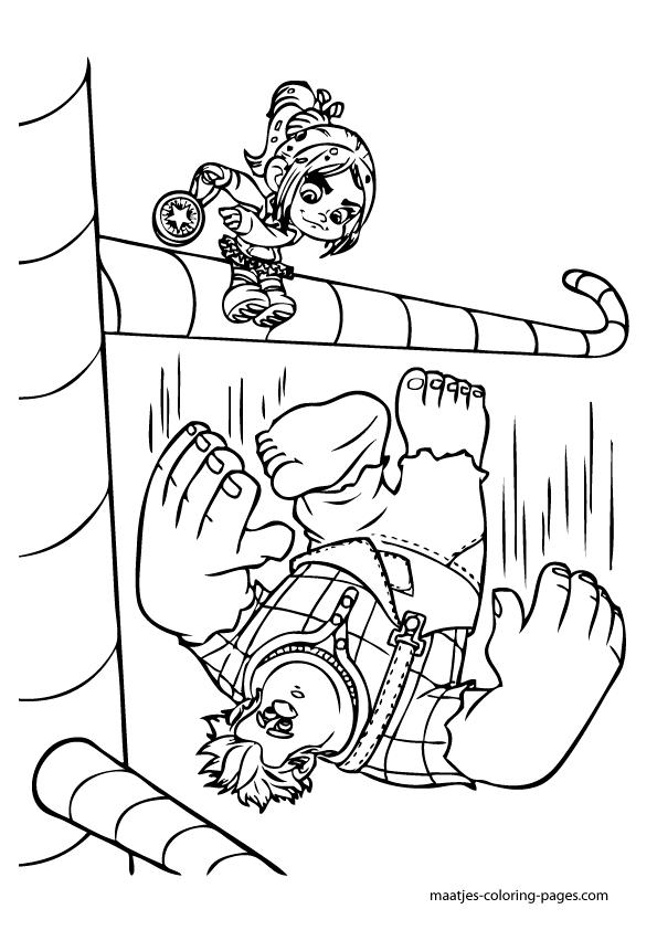De colorir detona ralph for Free wreck it ralph coloring pages