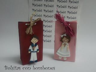 detalle de comunión - bolsa de bombones