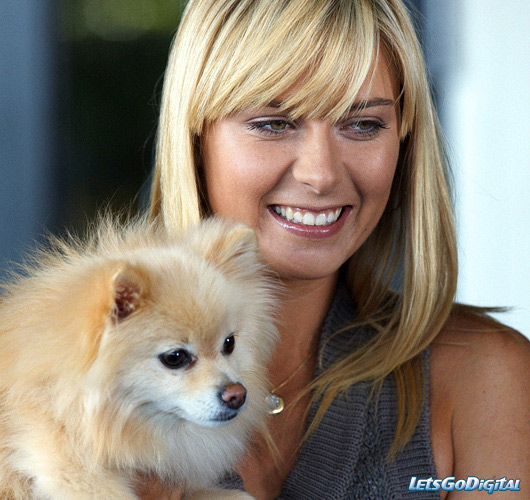 Photo of Maria Sharapova & her Dog Dolce