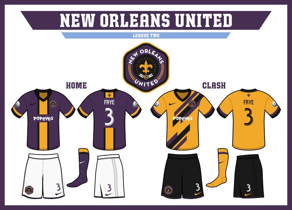 sports logo spot new orleans united. Black Bedroom Furniture Sets. Home Design Ideas