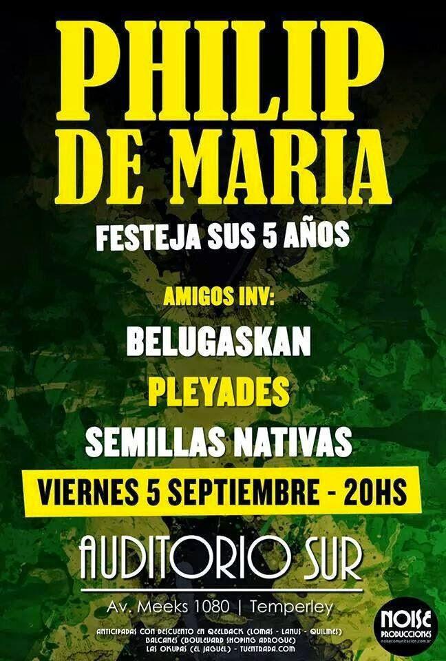Phillip de María, Reggae, Auditorio Sur