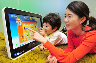 Teacher and student playing learning game