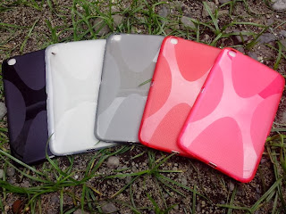 X Shape Line TPU Jelly Case For Samsung Galaxy Tab 3 8.0 T310 T311 T315 - Pink Transparant
