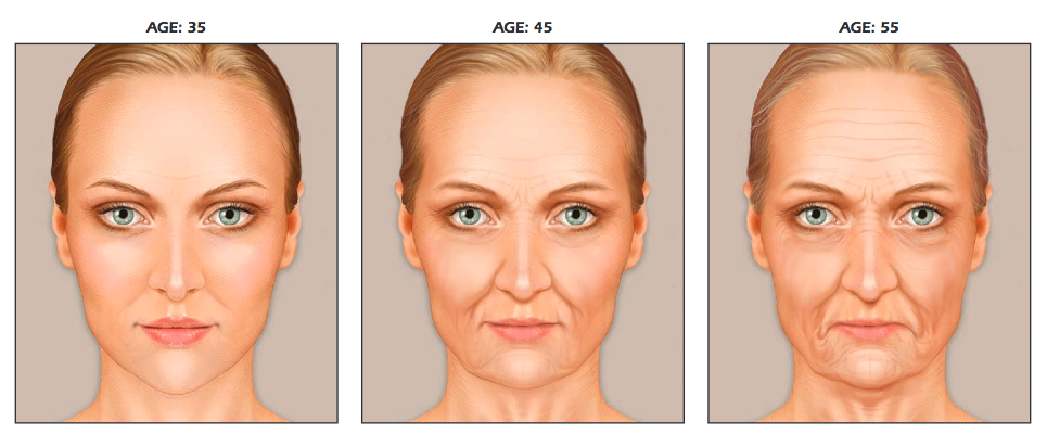 How a face changes through time and age