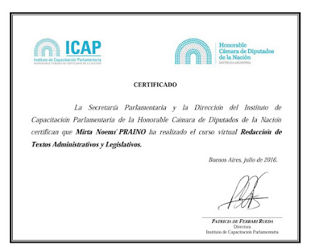 ICAP- Instituto de Capacitacion Parlamentaria- HCDN