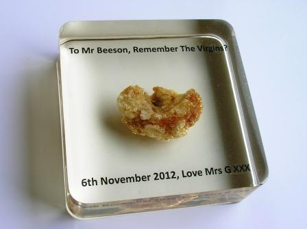 unique christmas gifts pork scratching paperweight