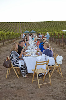 Outstanding in the field farm dinner in the wine country