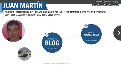 Vizify,biografa,Infografa interactiva,crear perfil,identidad online,TechStars