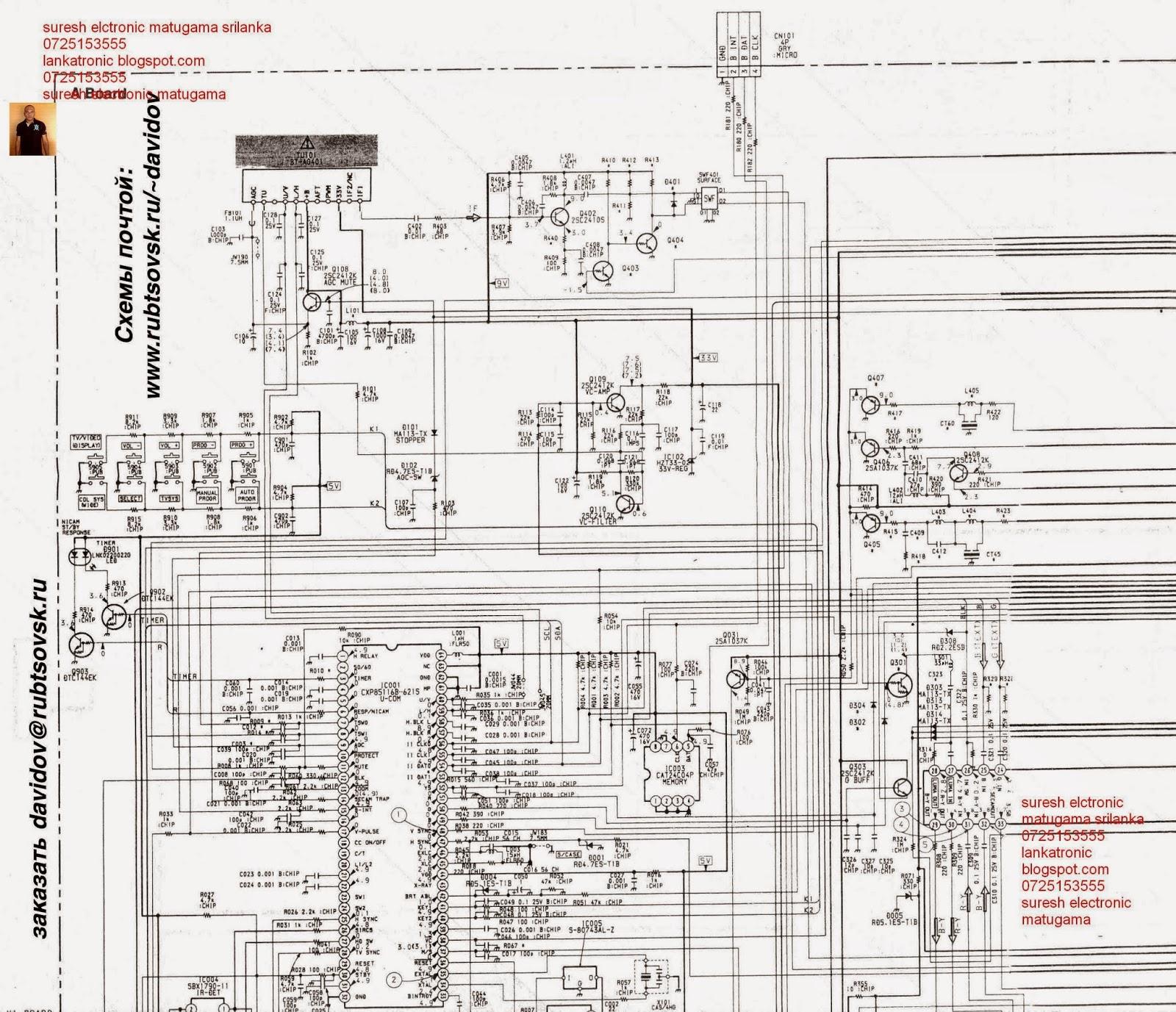 Принципиальная схема телевизора sony 2540