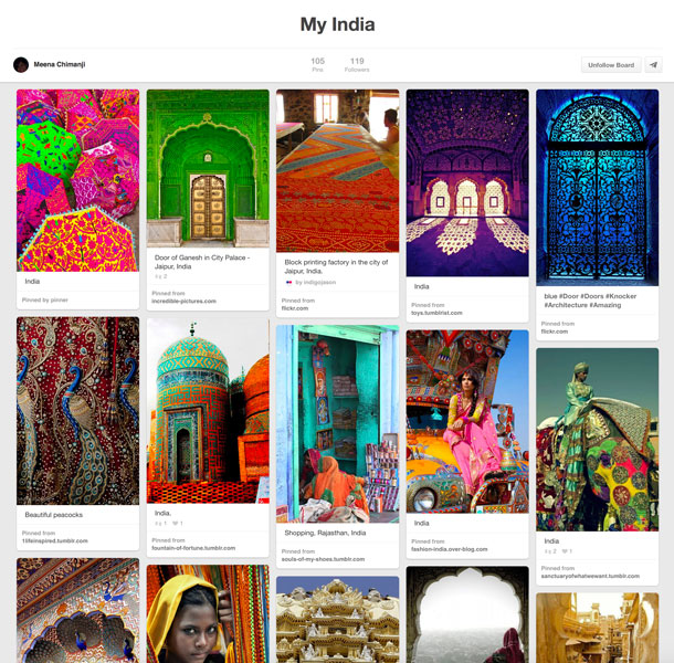 My India Pinterest Board