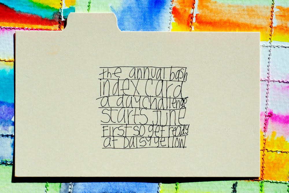2016 ICAD - Index Card a Day