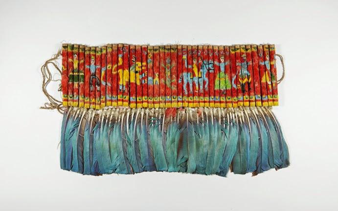 Bolivian Featherwork Dance Ornament