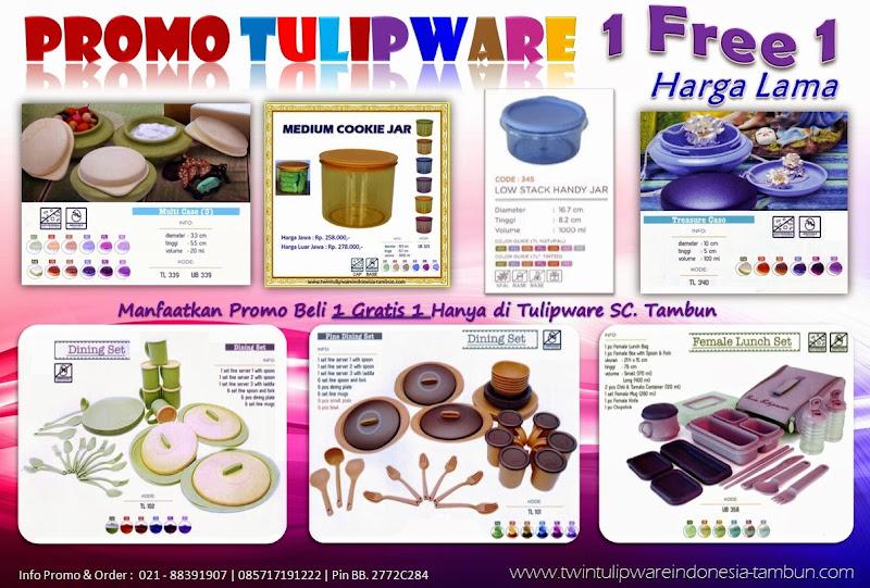 Promo Buy 1 Free 1 Harga Murah Tulipware Tupperware Mei 2014