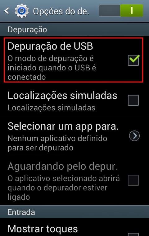 Desativar a apuração USB