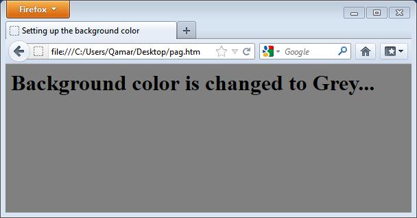 set page background color html