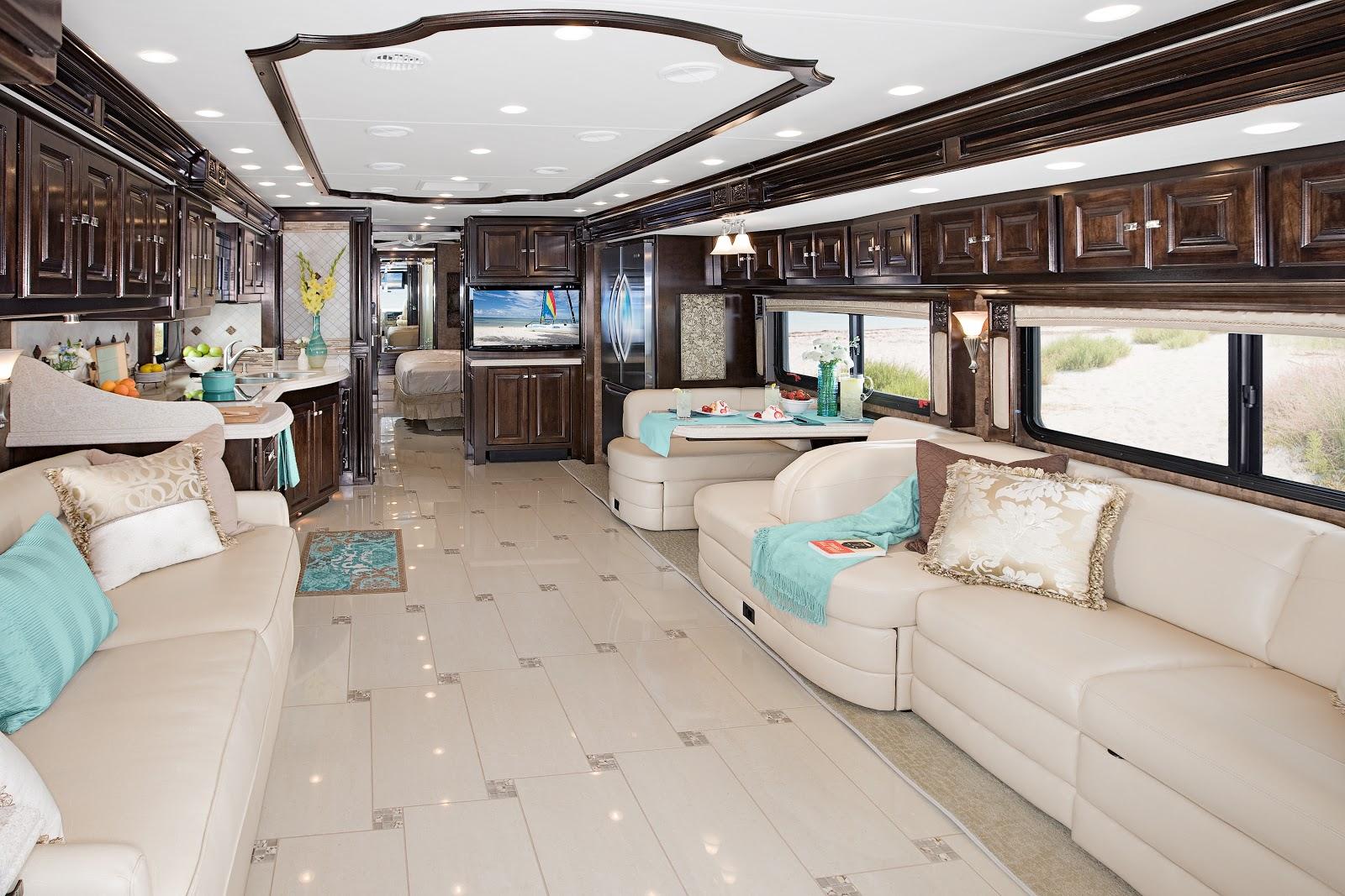 Luxury rv interior - Diesel Motorhomes