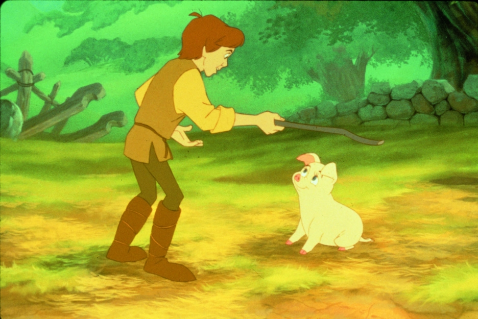 Taran and Hen Wen Black Cauldron 1985 disneyjuniorblog.blogspot.com