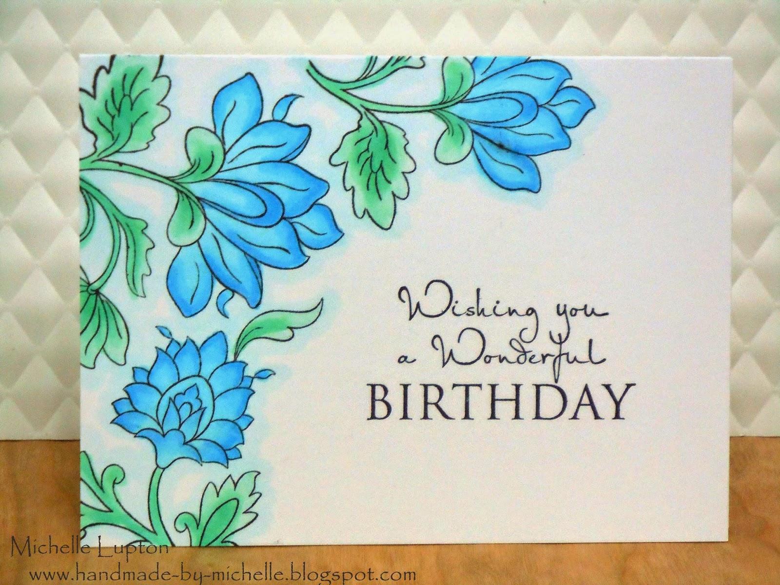 Handmade by Michelle Happy birthday Jacqui – Persian Birthday Cards