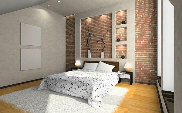 deco chambre interieur conceptions des murs en brique
