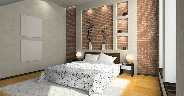 conceptions des murs en brique pour chambre coucher. Black Bedroom Furniture Sets. Home Design Ideas