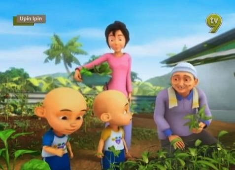 Cerita Kartun Upin Ipin Belajar Sayur Sayuran