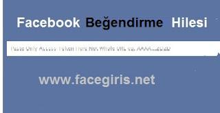 Facebook durum beğendirme uygulaması