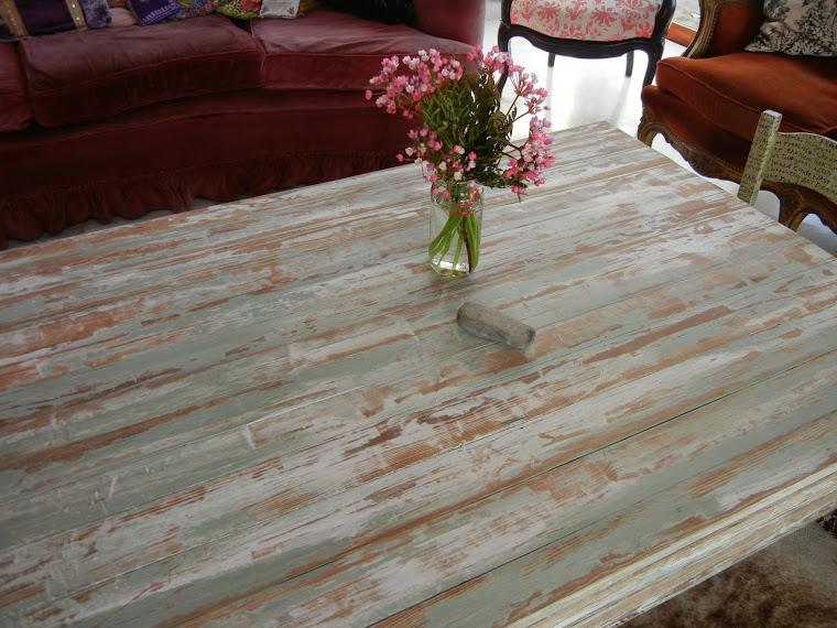 detalle mesa pinotea 1,80 x 1 m
