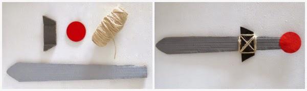 Como hacer espada carton