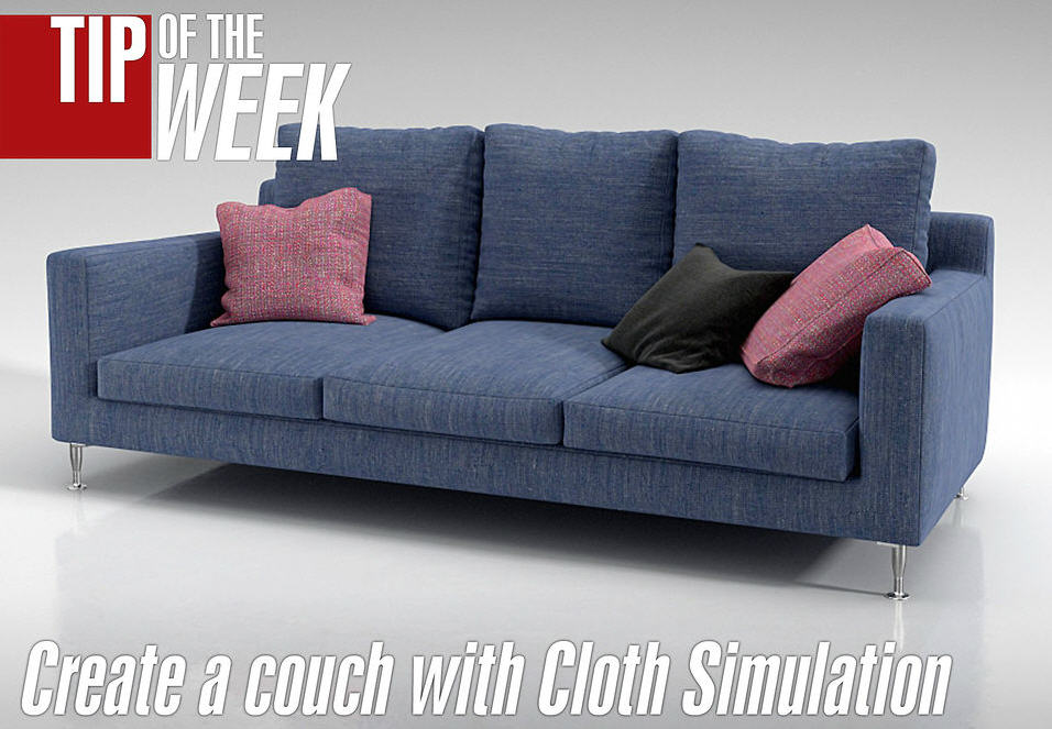Create A Couch With Cloth Modifier