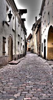 Таллинн.Улица в нижнем городе