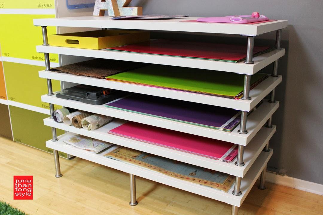 Flat File Storage Using Linnmon Table Tops Ikea Hackers