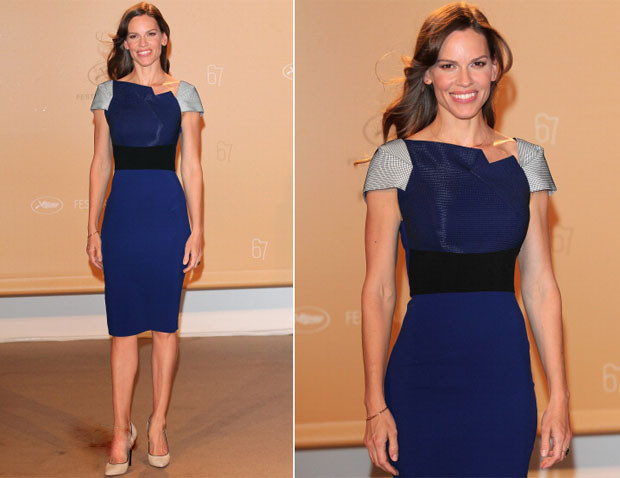 Hilary Swank attended the Agora dinner held during the 67th Annual Cannes Film Festival on Monday (May 19) in Cannes, France