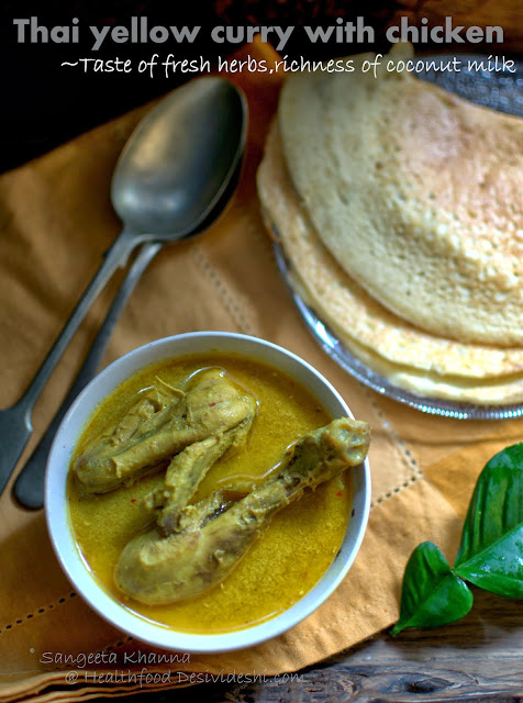 Yellow Thai chicken curry recipe | clean flavors, quick nourishing meals