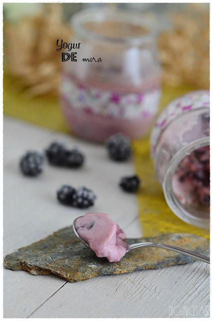yogur sabor mora