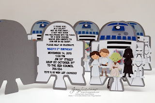 handmade invitations, starwars birthday,