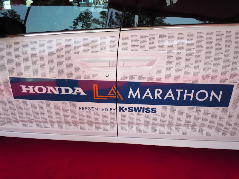 LA Marathon Honda car names