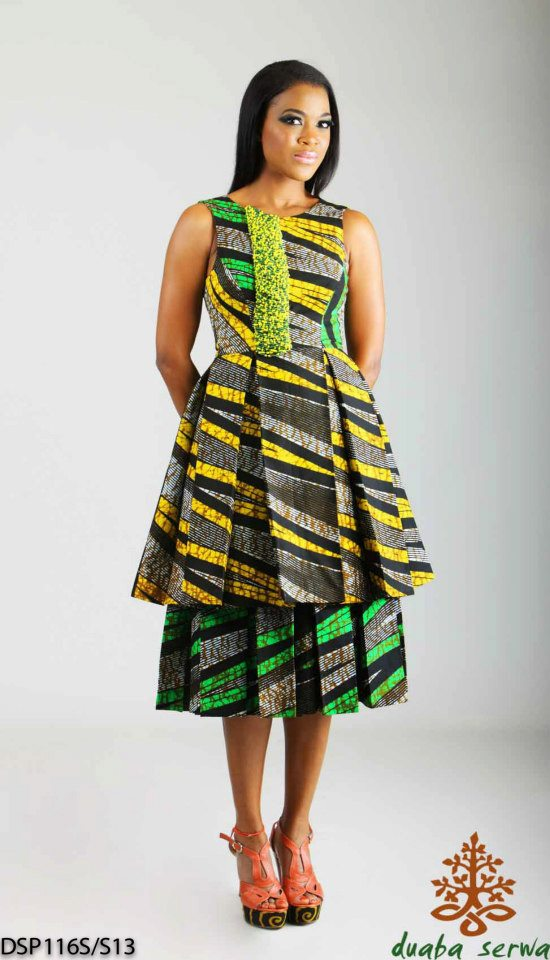 kitenge dress and modele de pagne africain sur ciaafrique by Duaba Serwa