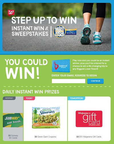 Walgreens.com Balance Reward IWG & Sweepstakes