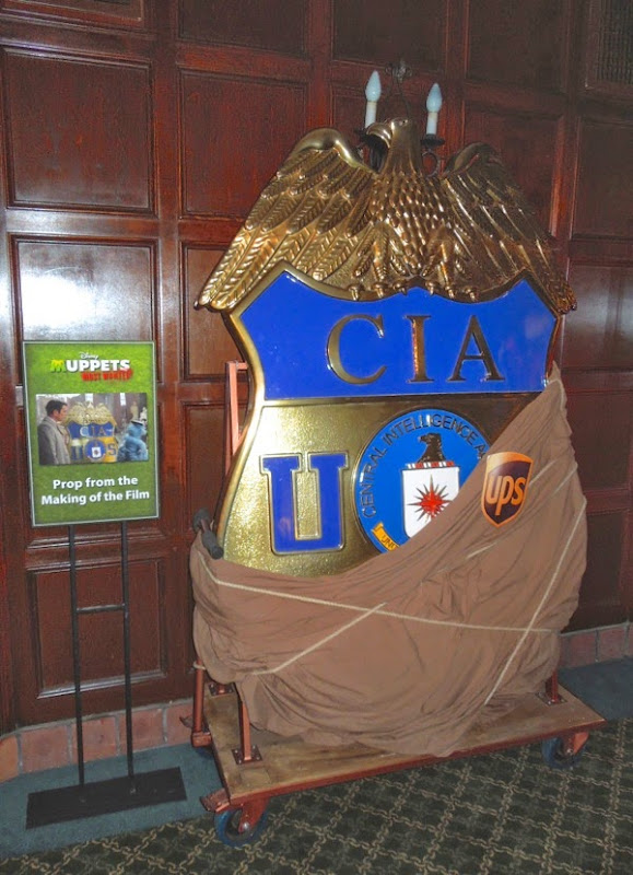 Giant CIA badge Muppets Most Wanted prop
