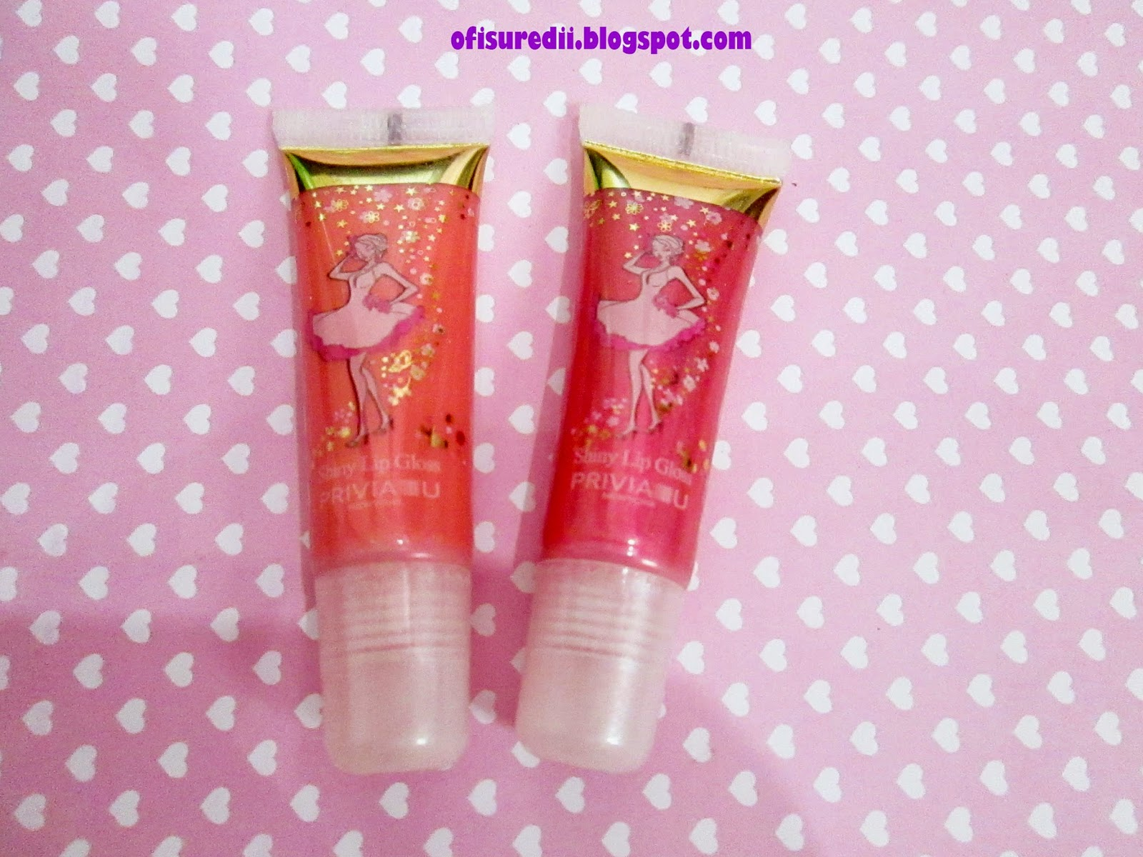 I will start with lip gloss It call shiny lip gloss I got tho shade no 1 and 6 Both red and peach The packaging like usual lip gloss but the picture is