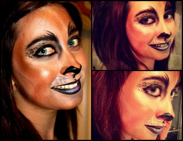 Jaguar Halloween makeup tutorial