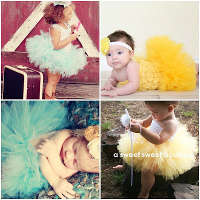 green baby tutu A Sweet Sweet Boutique