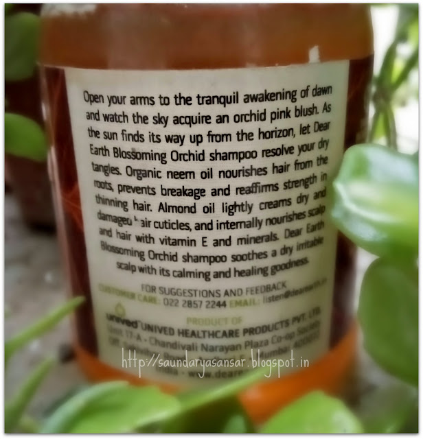 Dear Earth Blossoming Orchid Nourishing Shampoo-Review