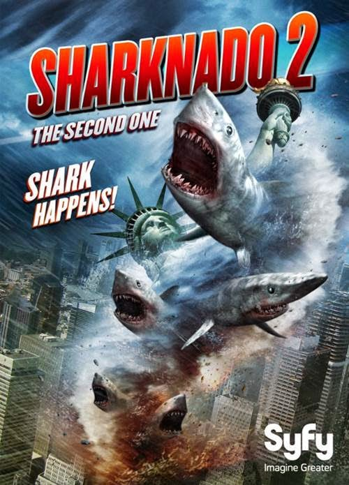 SHARKNADO 2 poster, SHARKNADO 3 announced by Syfy