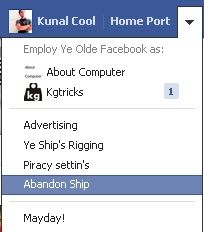 Facebook As English Pirate Language