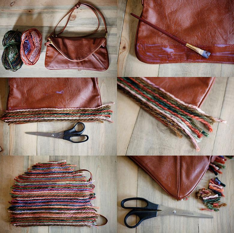 Декор кожаной сумки своими руками фото