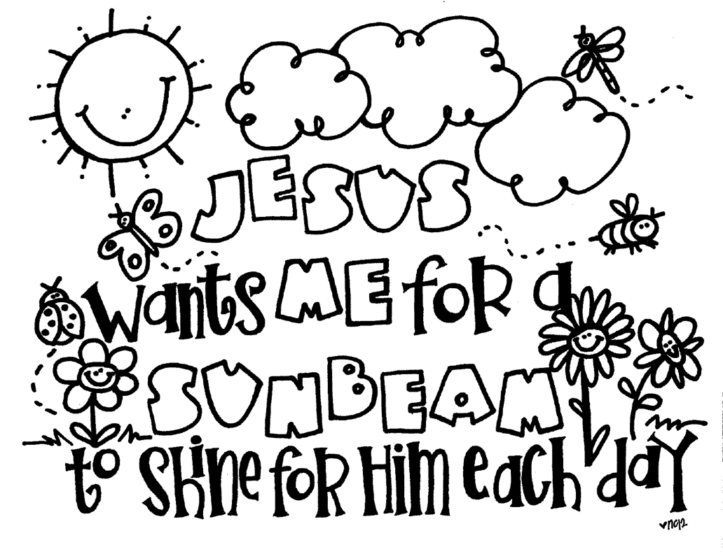 sunbeam coloring page - Primary Coloring Pages